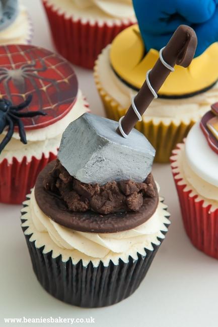 Marvel Superhero Cupcakes by Beanie's Bakery