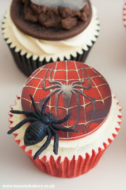 Marvel Superhero Cupcakes by Beanie's Bakery