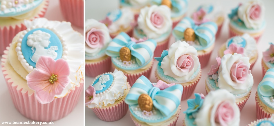 Vintage Wedding Cupcakes by Beanie's Bakery