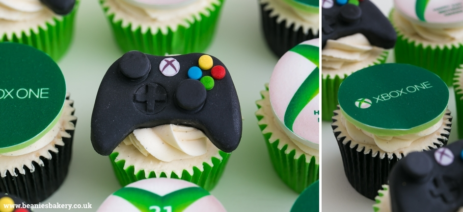 Xbox Cupcakes by Beanie's Bakery