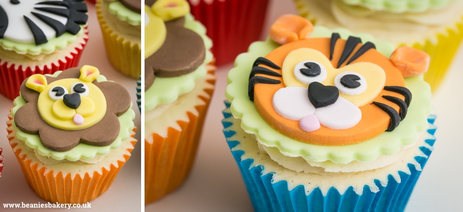 Jungle Animals Cupcakes by Beanie's Bakery