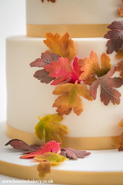 Autumn Wedding Cake by Beanie's Bakery