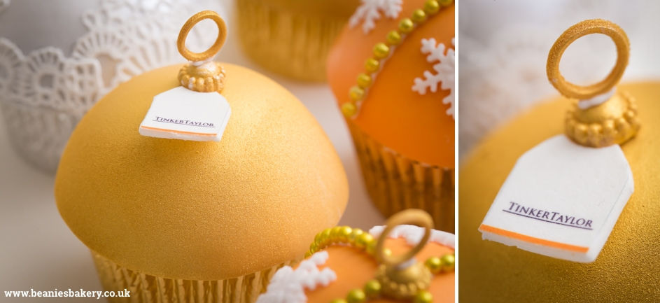 Christmas Baubles Corporate Cupcakes by Beanie's Bakery