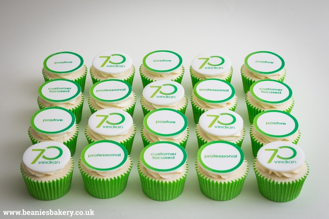 Viridian Housing Logo Cupcakes by Beanie's Bakery